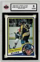 1984-85 OPC #185 Doug Gilmour RC Graded 8.0 NMM (*052619-72)