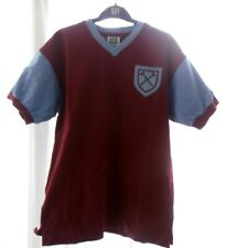 Score Draw Retro West Ham Shirt Size M 1964 FA Cup Final No 6 Bobby Moore