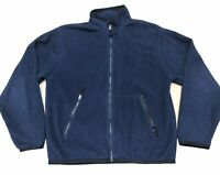 Gap Fleece Jacket Women's Size XS Navy Blue Fleece Zip Up Jacket with Pockets