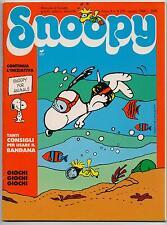 SNOOPY mensile N.8 Rizzoli 1988 peanuts calvin hobbes sansone mordillo schulz