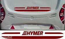HYMER CARAVAN/MOTORHOME 2 PIECE KIT DECALS STICKER CHOICE OF COLOUR & SIZE #008