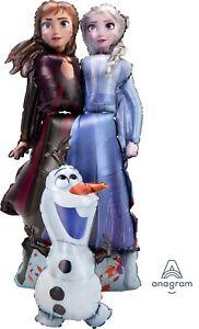 """Frozen 2 Elsa, Anna & Olaf Airwalker 57"""" Birthday Jumbo Balloon Decoration"""