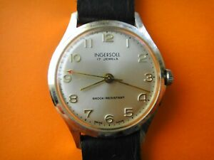 VINTAGE  INGERSOLL  MENS MECHANICAL WATCH NOT WORKING  FOR PARTS OR REPAIR
