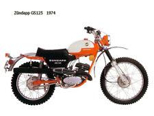 Image of Zundapp-GS125-1974  On Canvas 16 x 12 inch
