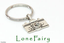 Silver Plated SLR Camera Keyring Key Chain Photography Hobby Great gift