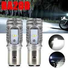 2pcs BA20D Hi/Lo 40W 6000K 9-85V Motorcycle ATV LED Bulb DRL Headlight Fog Light