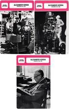 FICHE CINEMA x3 : ALEXANDER KORDA DE 1914 A 1955 -  Grande-Bretagne (Bio/Filmo)