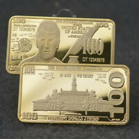 Commemorative Coin Collection Gift  trump Gold Plated Commemorative Coin