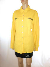Chico's Design Womens Yellow cuisine Embellish Casual long manche chemise Sz 22 ae16