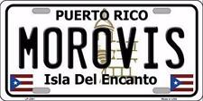 "Morovis Puerto Rico Novelty 6"" x 12"" Metal License Plate Sign"