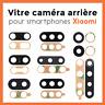 Vitre camera arrière cache lentille verre glass lens pour Xiaomi Redmi, Mi, Note