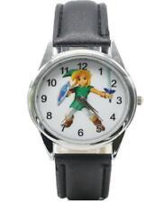 The Legend of Zelda Logo Genuine Leather Band WRIST WATCH
