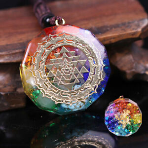 Orgonite Pendant SRI YANTRA Necklace Chakra Healing Energy Sacred Geometry