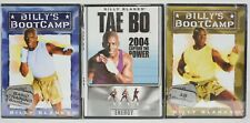New listing Lot of 3 Billy Blanks Workout DVDs: Basic Training Bootcamp, Ab Bootcamp, Energy