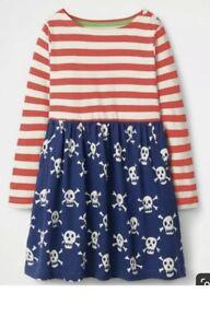 NEW Ex Mini Boden Neon Skull Hotchpotch Dress 6-7 & 7-8Yrs