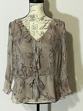 Women's 100% Silk Blouse Size(M) NewYork City Design Co.Style & Fashion Comfort