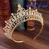 Fashion Big Hollow Crystal Wedding Diadem Rhinestone Queen Tiaras And Crowns Hea