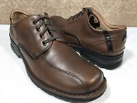 CLARKS Men's BROWN Leather Oxfords Casual Office Comfortable Lace Up Shoe 11M US