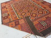 9'11 x 7'9 Handmade Afghan Tribal Kilim Carpet Sheep Wool Kelim Area Rug #6574