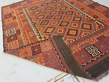 9'11 x 7'9 Handmade Afghan Tribal Kilim Carpet Sheep Wool Kelim Area Rug #6574