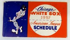 1957 CHICAGO WHITE SOX American League booklet pocket Schedule baseball