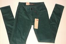 Levis 535 Womens Green Curduroy Legging Jeans Size 3m With Tag LQQK