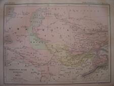 CARTE du TURKESTAN Russe Boukhara et Khiva Empire Russe Gravure vers 1890