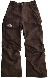 The North Face Girls Waterproof Insulated BROWN/Pink Pants $99 Size: M