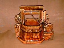 McCoy Pottery Wishing Well Planter-USA-Oh Wishing Well Grant A Wish to Me-Brown