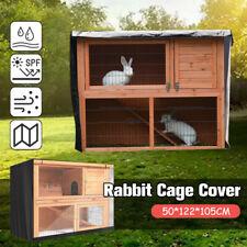 4FT Rabbit Hutch Cover Pet Bunny Cage Waterproof Dustcover Outdoor Garden Patio
