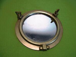 "Brass Porthole Mirror Nautical Marine Ship Boat Wall Decor 8"" Solid Brass Mirror"