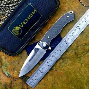 High-end Folding Knife Pocket Hunting Survival Combat M390 Steel Titanium Handle