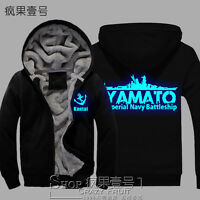 Winter Kantai Collection Game Hooded Warmth Hoodie Black Coat Unisex Noctilucent