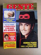 GENTE n°4 1983 Romina Power Rita Hayworth Andrea Giordana  [G740]
