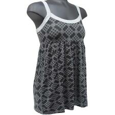 Oakley HONEY Singlet Black Grey Print Size L Large Womens Summer Tank Top
