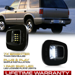 92-99 Chevy GMC Tahoe Suburban Yukon [BLACK BEZEL] Full LED License Plate Light