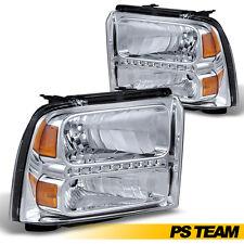 2005 2006 2007 Ford F250 F350 F450 F550 Superduty Crystal Clear LED Headlights