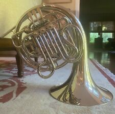 Holton-Farkas H179 Silver Color Double French Horn W/ Case NICE ! fixed bell