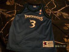 Vintage 1998 Minnesota Timberwolves Champion Blank Jersey Garnett Towns Wiggins Fan Apparel & Souvenirs Basketball-nba