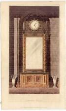 UHR-Architektur-Spiegel?-Ornamentik kol. Aquatinta 1824 CABINET GLASS