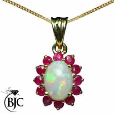 Not Enhanced Yellow Gold Ruby Fine Necklaces & Pendants