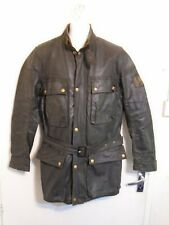 VINTAGE 70's BELSTAFF TRIALMASTER PRO WAXED COTTON MOTORCYCLE JACKET SIZE L