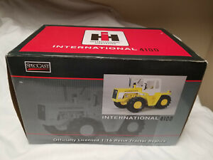 1/16 Speccast International IH 4100 Resin 4WD Tractor W/Cab  Yellow/White  NIB
