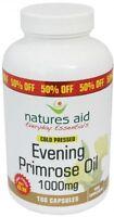 Natures Aid Evening Primrose Oil 1000mg (Cold Pressed) 180 Caps
