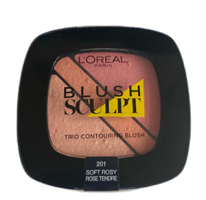 L'OREAL PARIS BLUSH SCULPT TRIO CONTOURING BLUSH SHADE 201 SOFT ROSY NEW