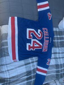 NEVER WORN NHL PREMIER NEW YORK RANGERS CALLAHAN BLUE JERSEY MEN'S SIZE XL
