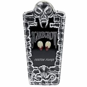 Scarecrow Deluxe Small Bloody Tip Vampire Custom Fangs Adult Halloween Accessory