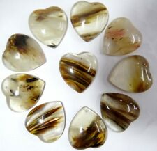 25*23mm cherry quartz Gemston heart CAB CABOCHON Flat Back Beads Jewelry Design