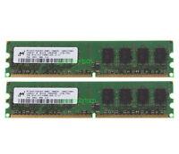 Micron 4GB 2X 2GB DDR2 2RX8 PC2-6400 800MHz 240PIN DIMM Desktop memory NON-ECC