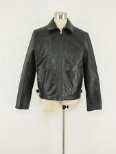 BANANA REPUBLIC Vintage Black Leather Casual Motorcycle Jacket Small S
